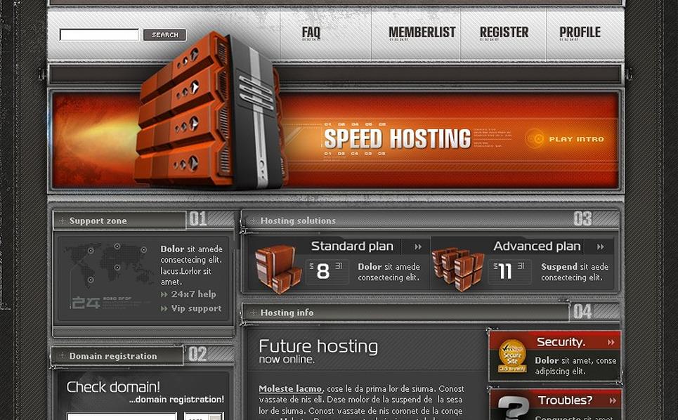 Hosting PhpBB Template New Screenshots BIG