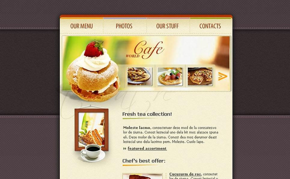 Cafe Flash Template New Screenshots BIG