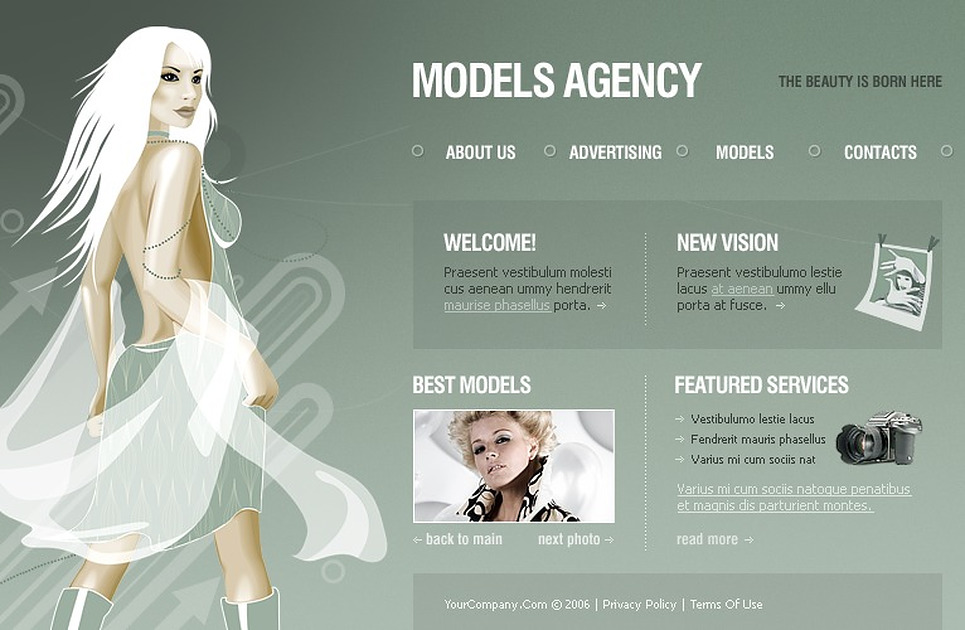 Model Agency Flash Template New Screenshots BIG