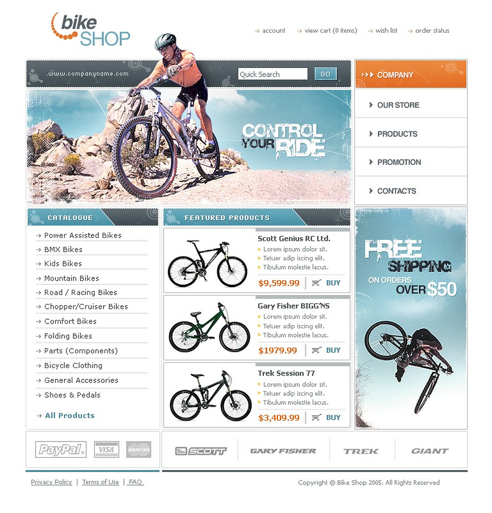 Cycling Website Template New Screenshots BIG