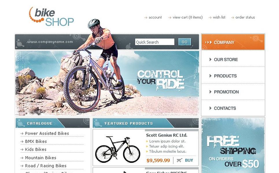 Cycling Website Template New Screenshots BIG