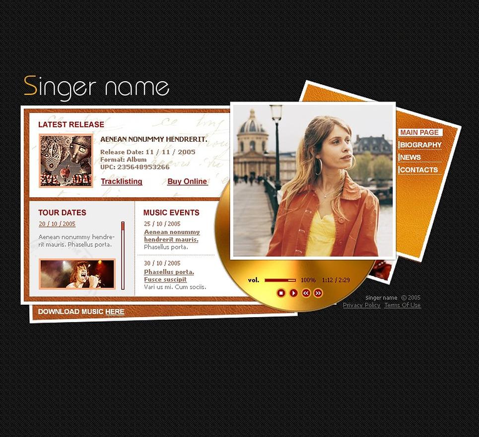 Singer Flash Template New Screenshots BIG