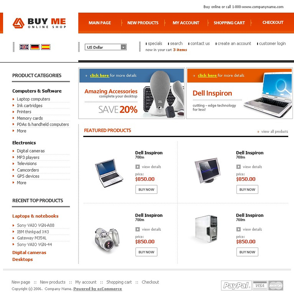 Онлайн дизайн магазина бесплатно