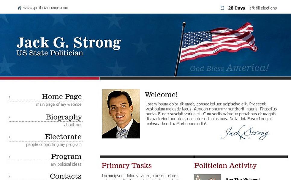 Political Candidate Website Template New Screenshots BIG