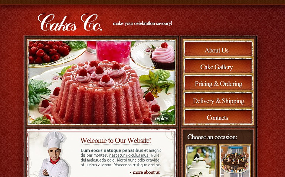 Sweet Shop SWiSH Template New Screenshots BIG