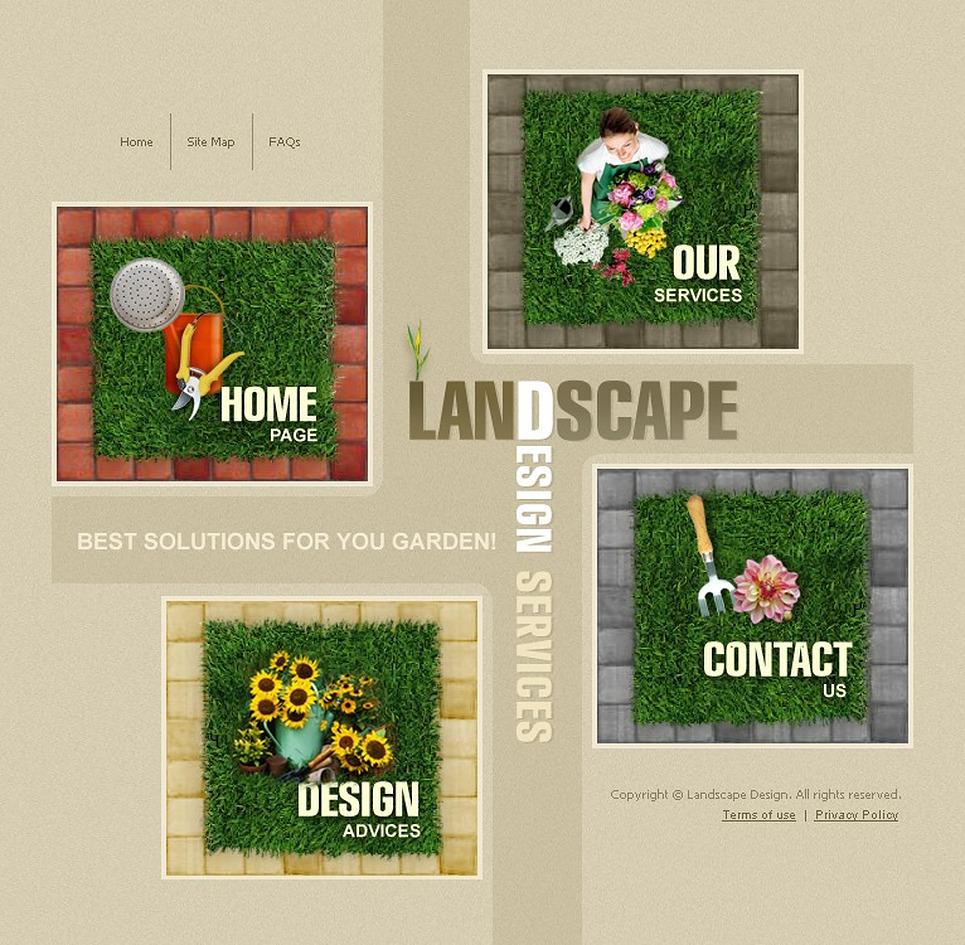 Landscape design flash template 10324 for Garden design questions