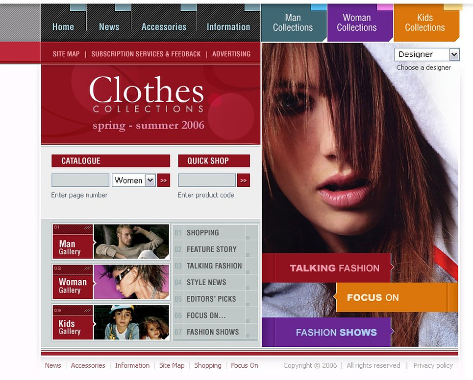 Fashion Store Flash Template New Screenshots BIG