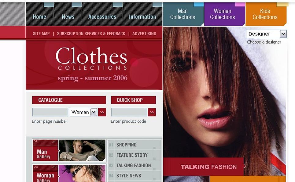 Fashion Store Flash Template New Screenshots BIG