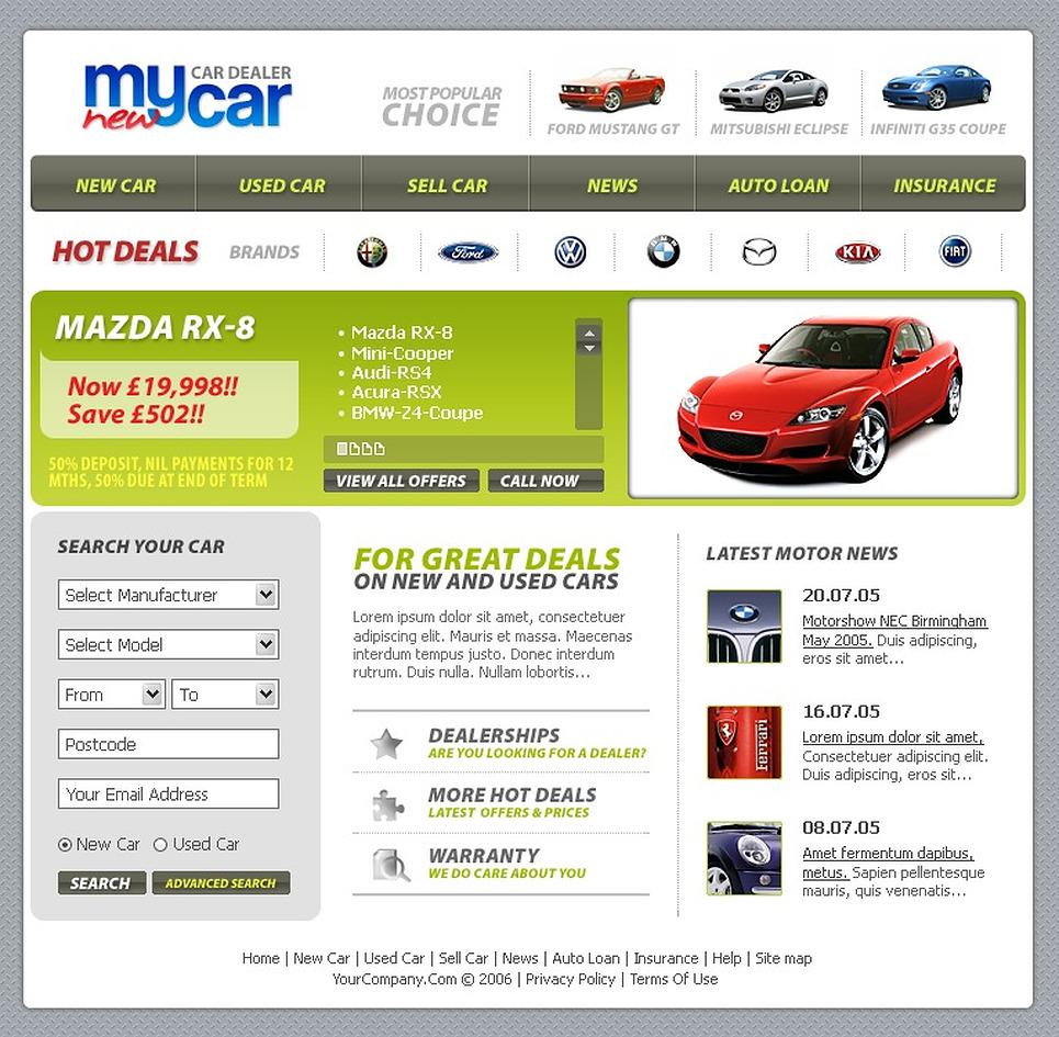 car dealer website template web design templates website templates download car dealer. Black Bedroom Furniture Sets. Home Design Ideas