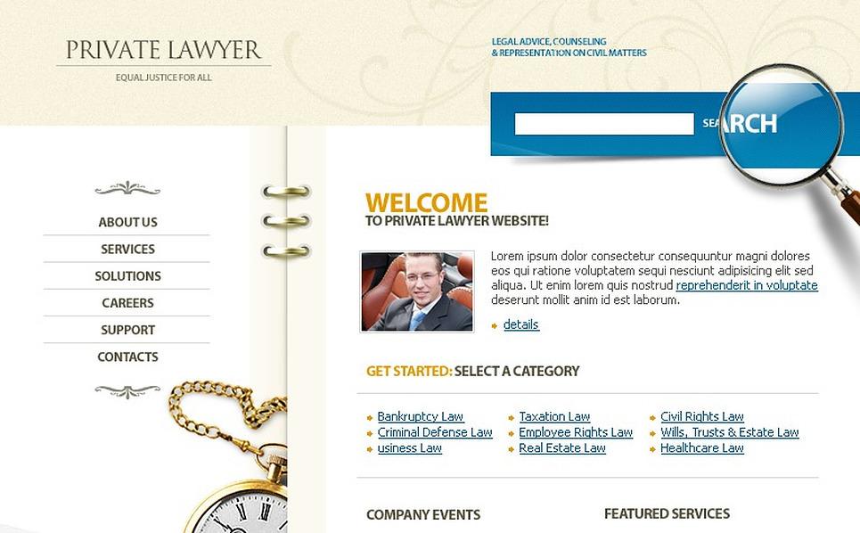 Lawyer Flash Template New Screenshots BIG