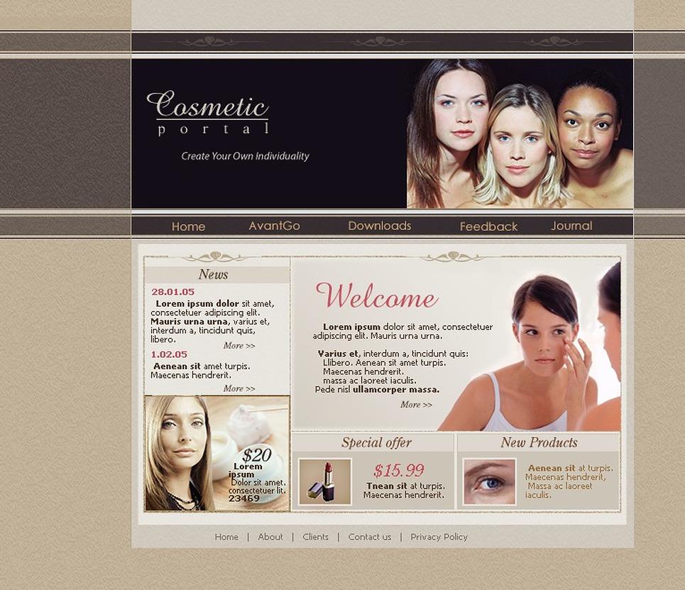 Beauty PHP-Nuke Template New Screenshots BIG