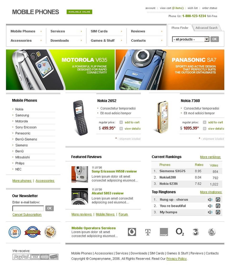 mobile store website template web design templates website templates download mobile store. Black Bedroom Furniture Sets. Home Design Ideas