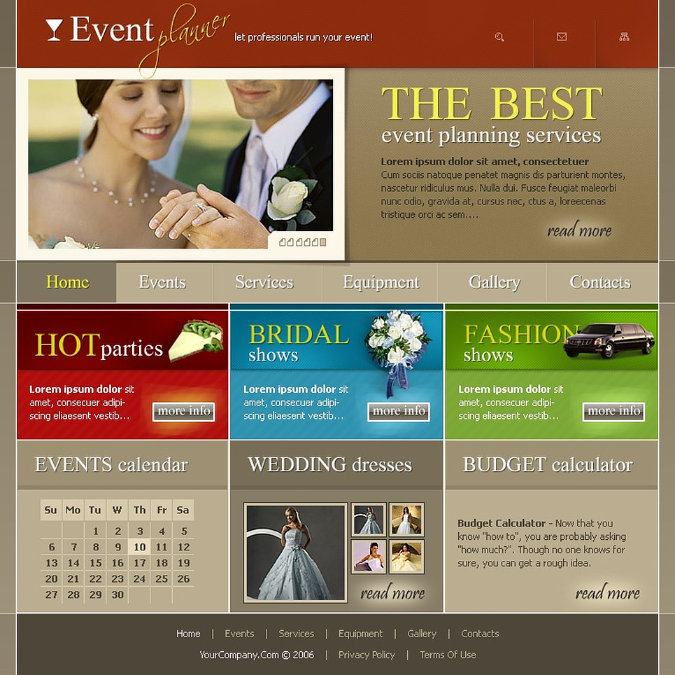 Event Planner Website Template New Screenshots BIG