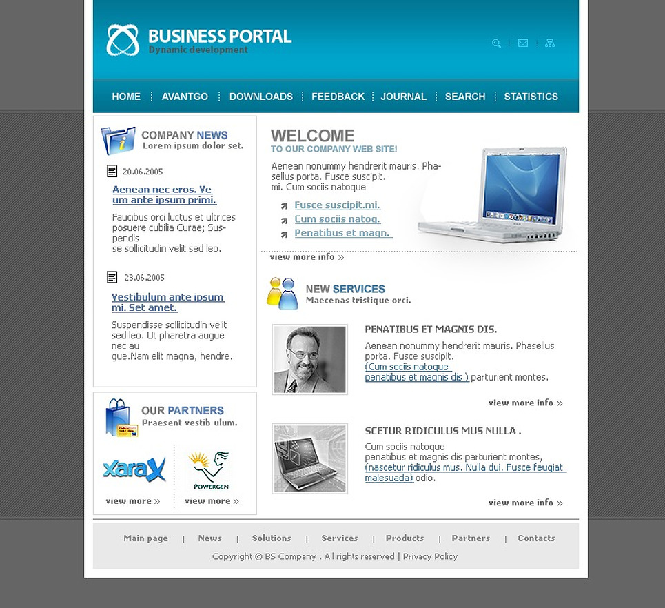 Business PHP-Nuke Template New Screenshots BIG