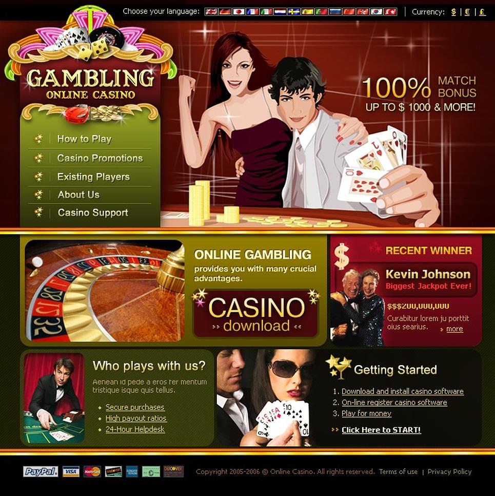 Online Casino Website Templates - DigitalOfficePro