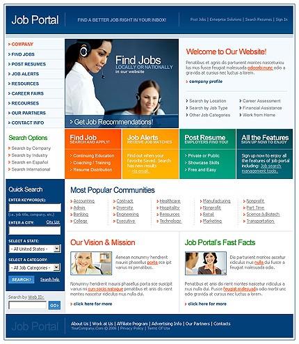 Education Portal Website Templates 2018