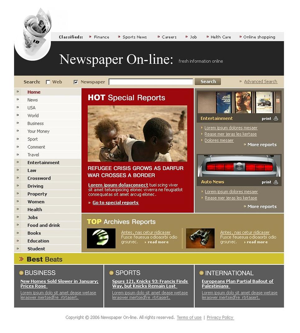 how to make news portal website