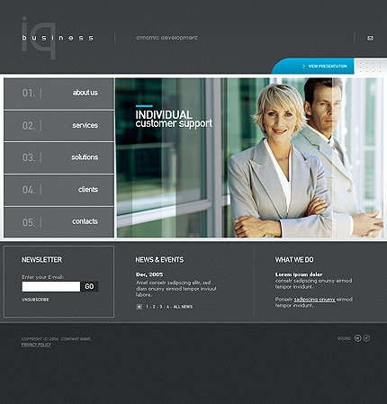 Website Template #10855