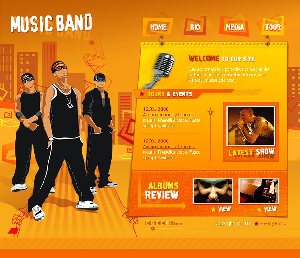 Music Band Flash Template New Screenshots BIG