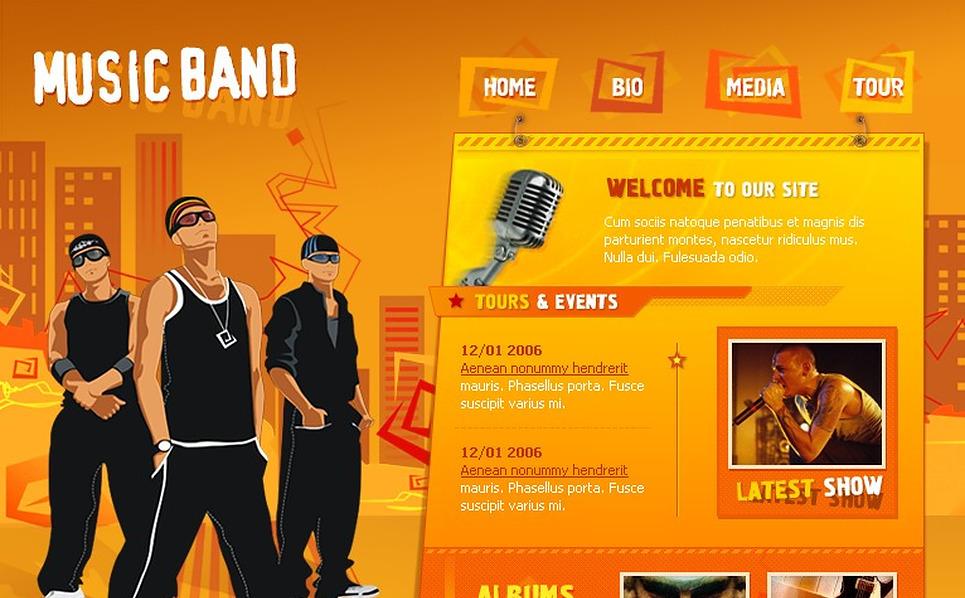 Music Band Flash Template New Screenshots BIG