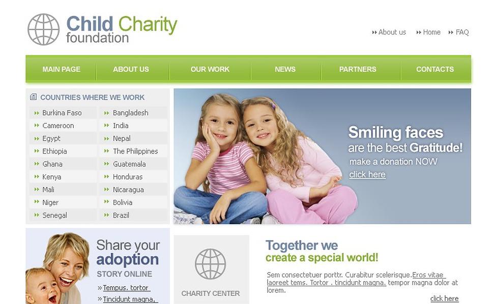 Child Charity Website Template New Screenshots BIG