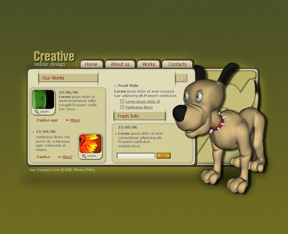 Web Design SWiSH Template New Screenshots BIG