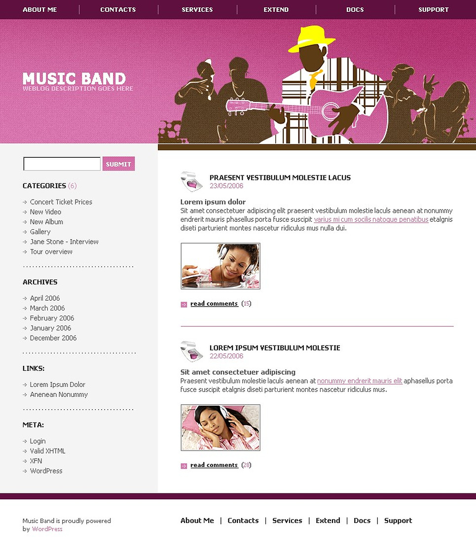 Music Band WordPress Theme New Screenshots BIG