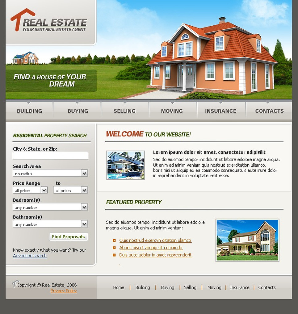 templates real estate