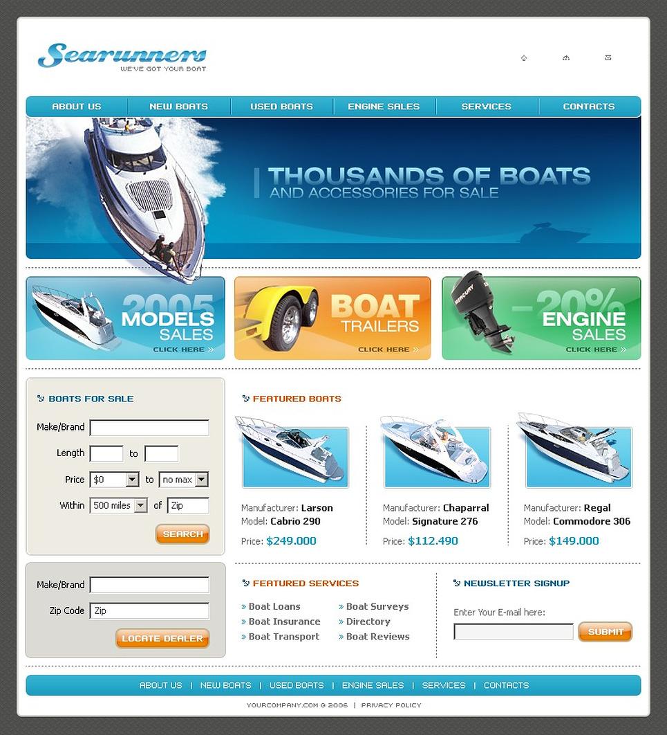 Yachting Website Template New Screenshots BIG