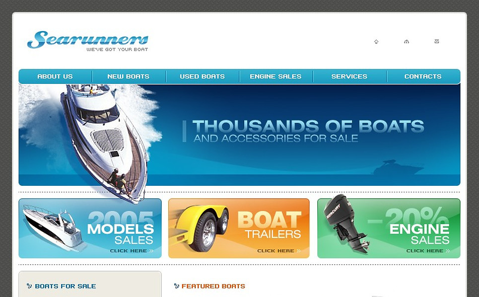 Yachting Website Template New Screenshots BIG