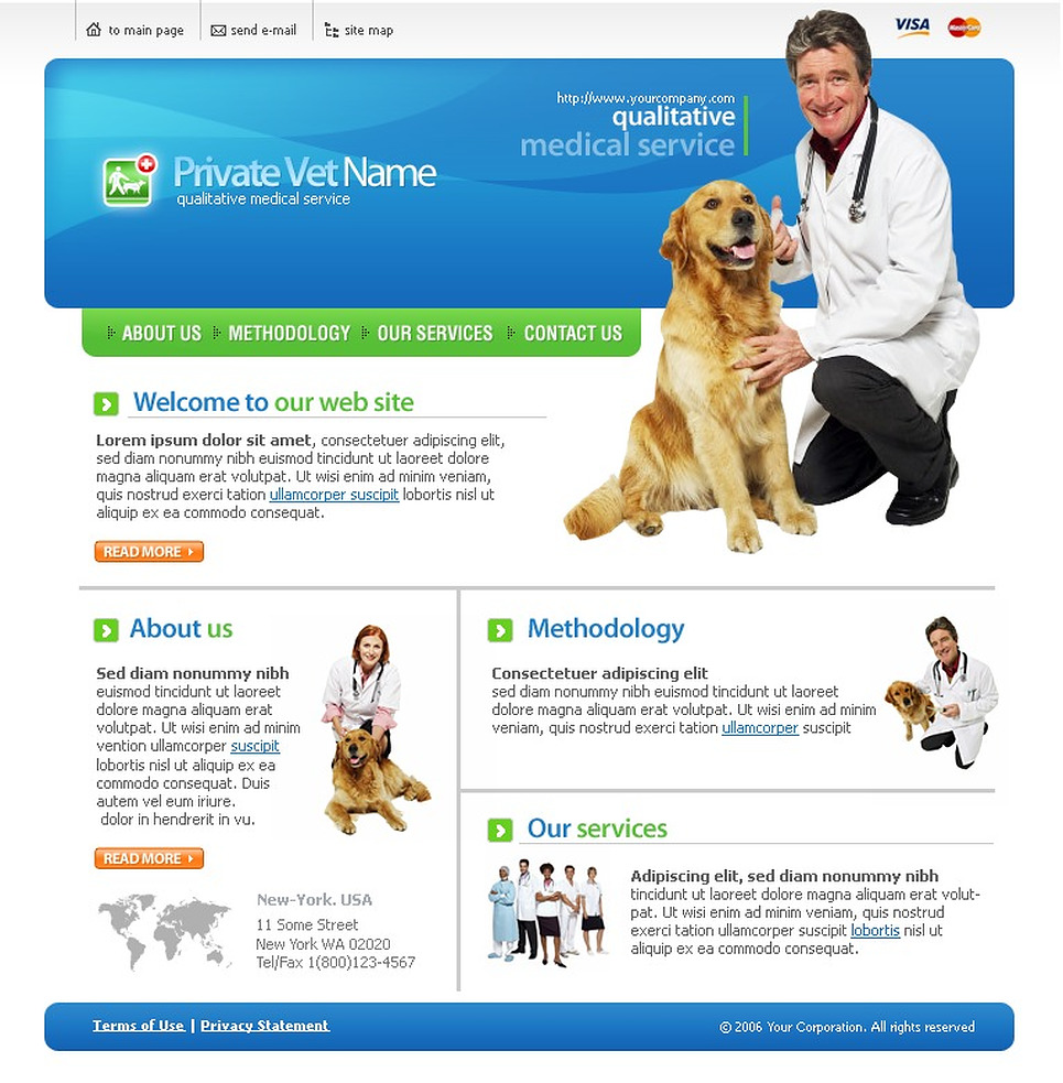 Vet Website Template New Screenshots BIG