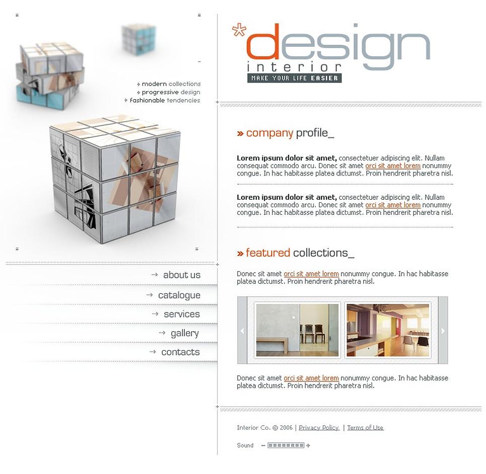 Interior Design Flash Template 11292