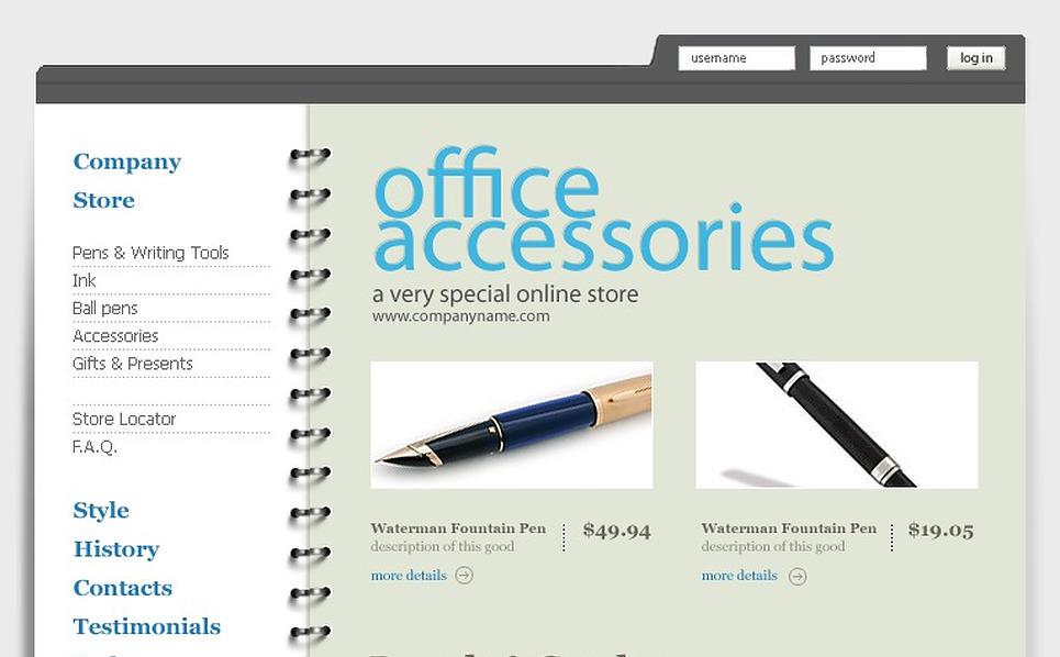 Stationery Website Template New Screenshots BIG