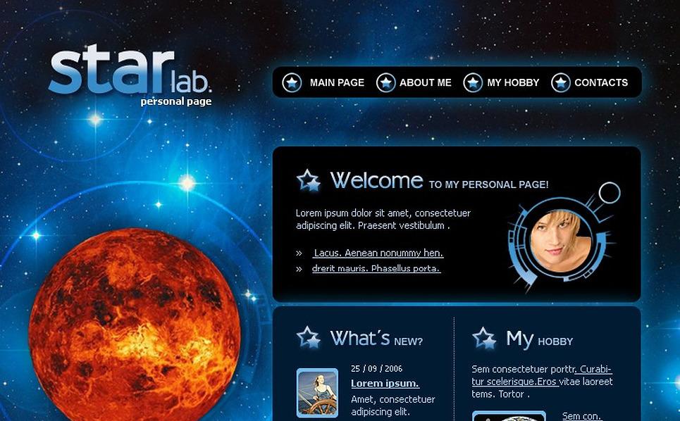 Astronomy Flash Template New Screenshots BIG