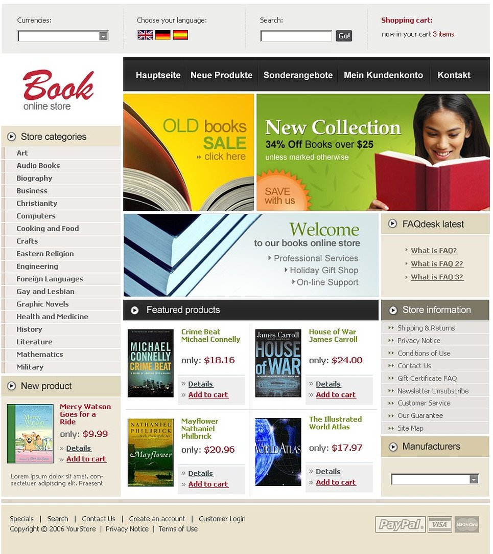 Book Store CRE Loaded Template New Screenshots BIG