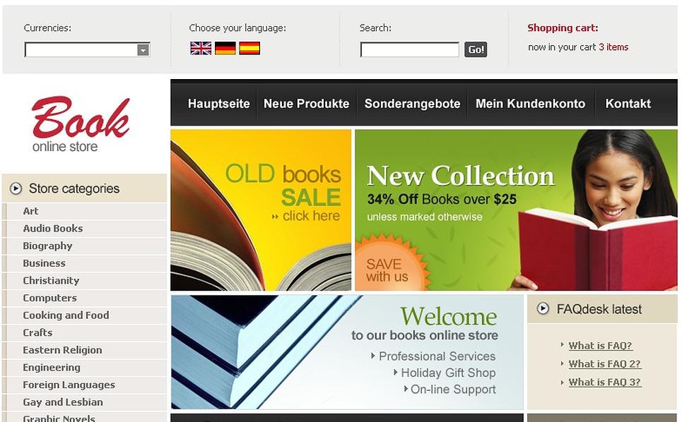 Book Store CRE Loaded Template New Screenshots BIG