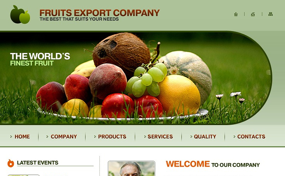Fruit Website Template New Screenshots BIG