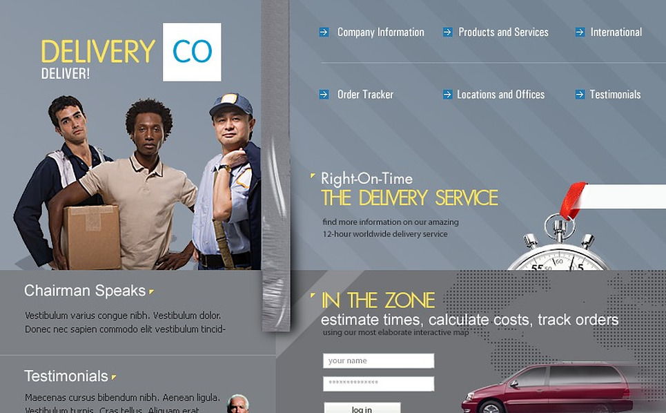Delivery Services Website Template New Screenshots BIG
