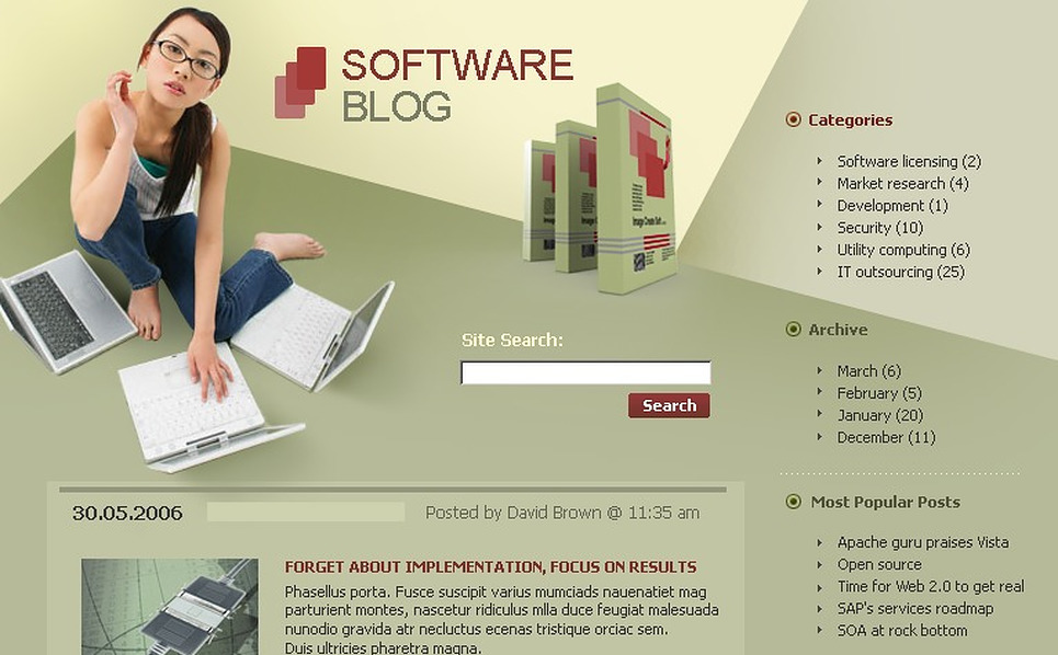 Software WordPress Theme New Screenshots BIG