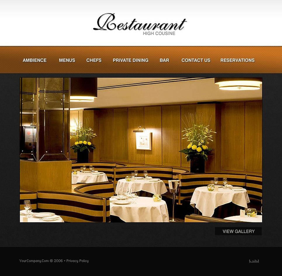 Cafe and Restaurant Flash Template New Screenshots BIG