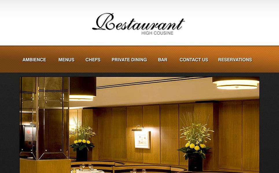 Cafe and Restaurant Flash Template New Screenshots BIG