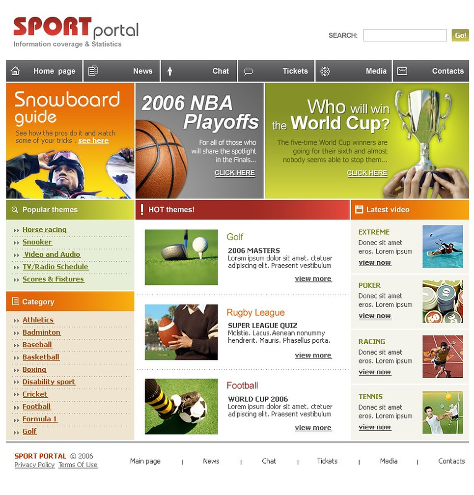 sport website template web design templates website templates download sport website. Black Bedroom Furniture Sets. Home Design Ideas