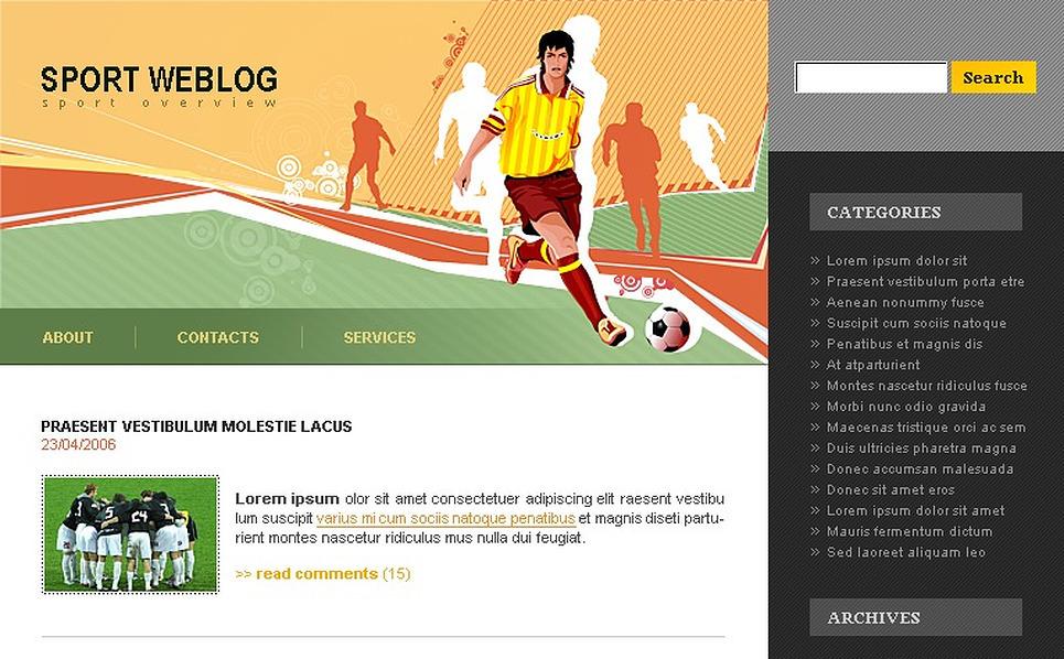 Soccer WordPress Theme New Screenshots BIG