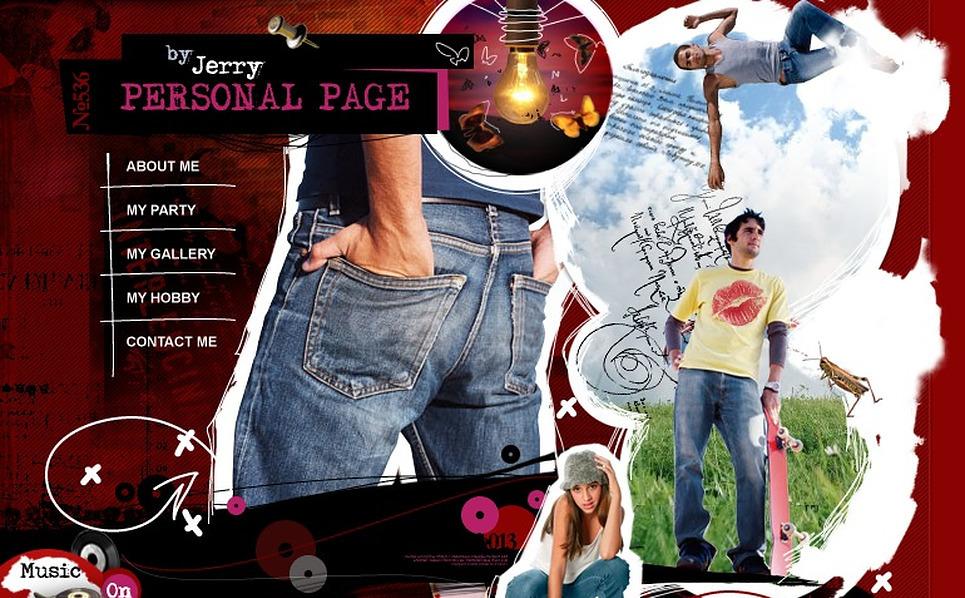 Personal Page Flash Template New Screenshots BIG