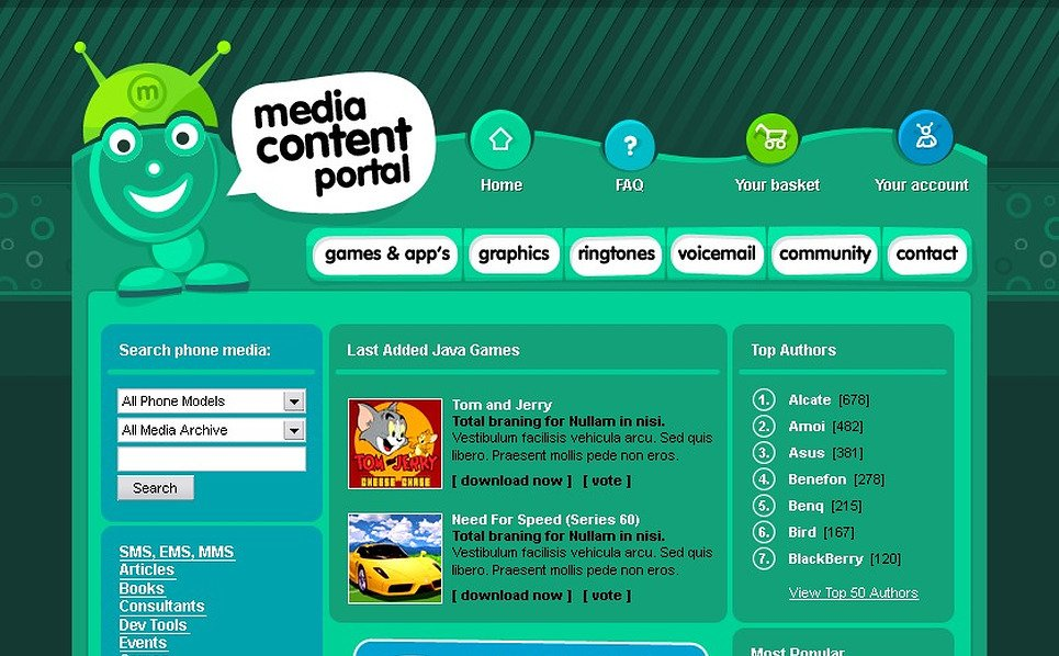 Media Website Template New Screenshots BIG