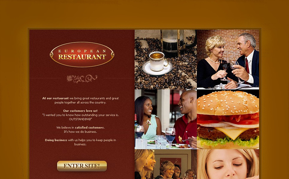 European Restaurant Flash Template New Screenshots BIG