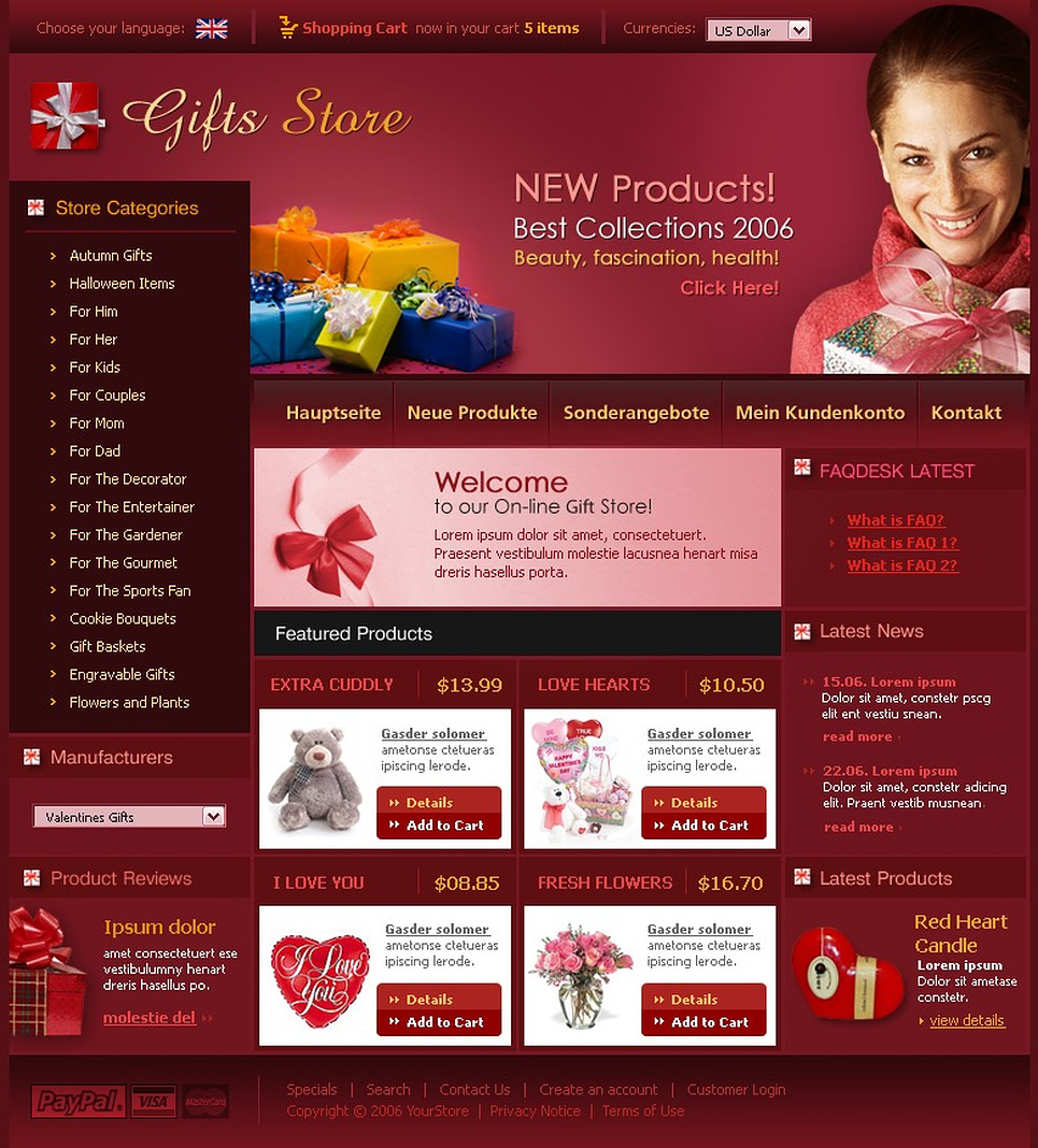 Gifts Store CRE Loaded Template New Screenshots BIG
