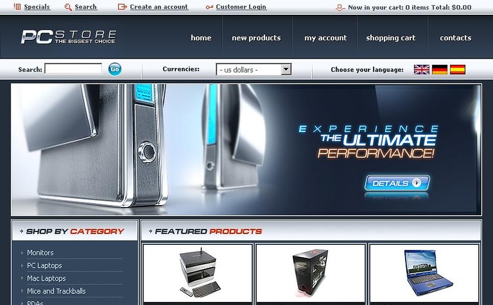 Computer Store OsCommerce Template New Screenshots BIG