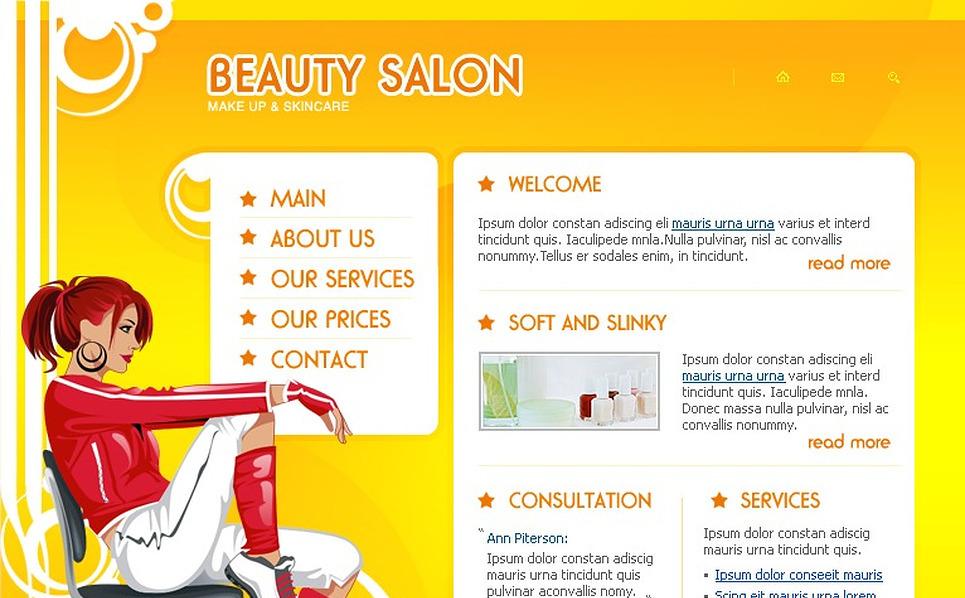 Beauty Salon Flash Template New Screenshots BIG