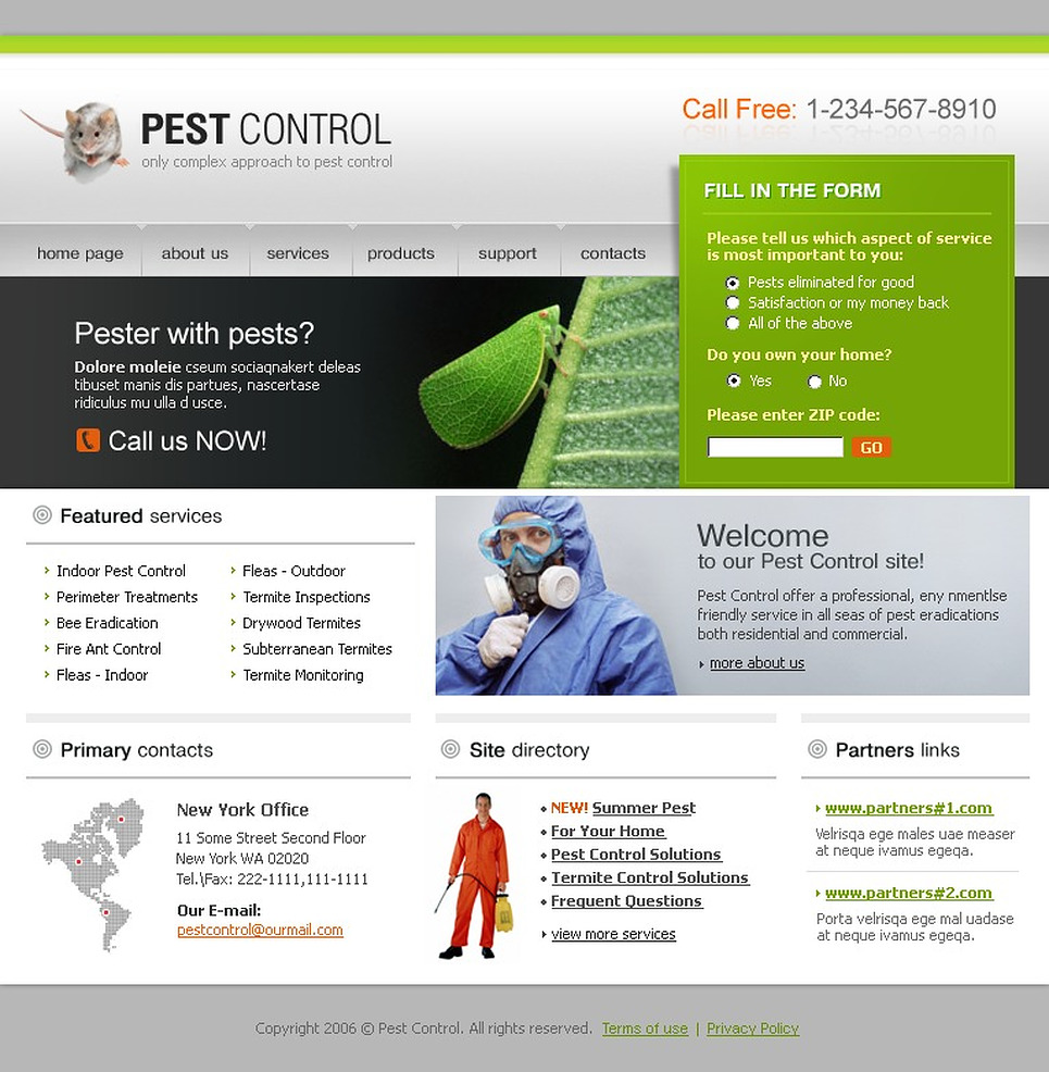 pest control website template new screenshots big pest control online